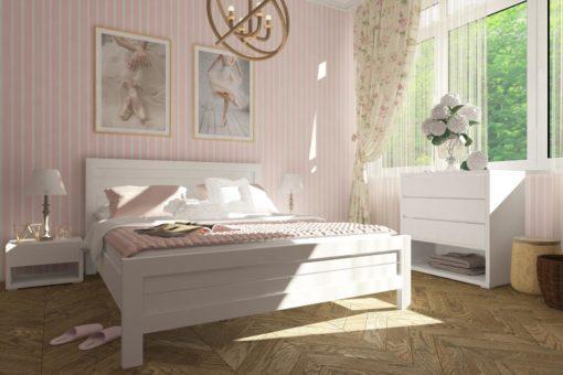 Кровать Торонто  (Матовый лак (сосна))