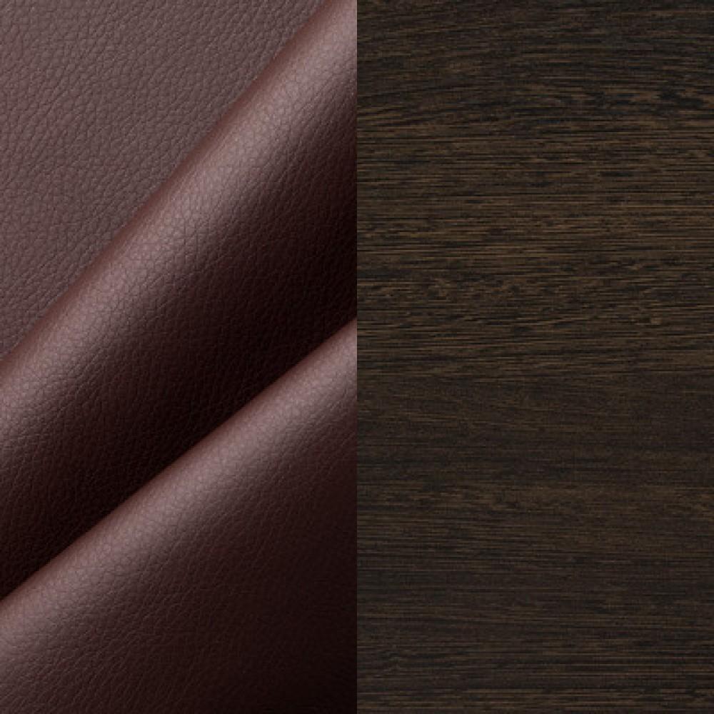 ЛДСП венге + экокожа коричневый