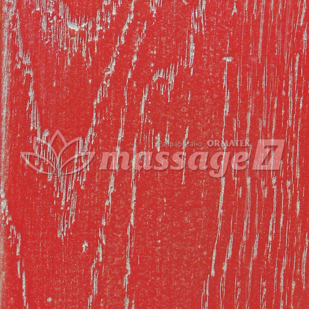 Красная эмаль с  серебряной патиной