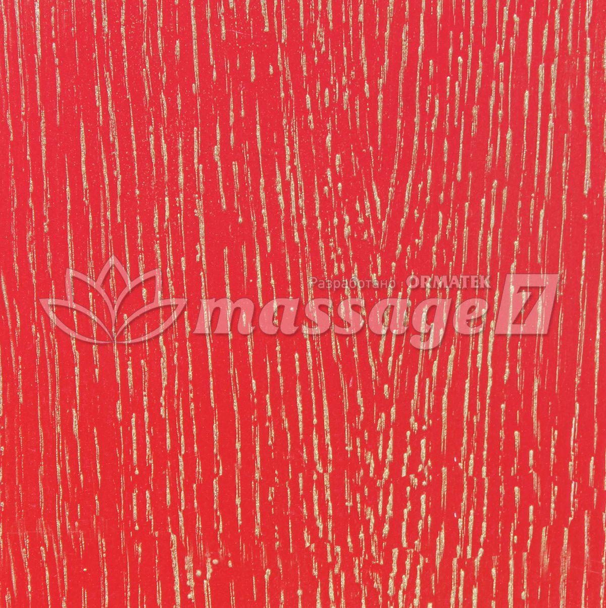 Красная эмаль с золотой патиной