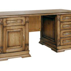Письменный стол Флоренция-2 – функциональная модель, привлекающая взгляд естественной природной фактурой, делающей этот предмет интерьера интересным и неповторимым.